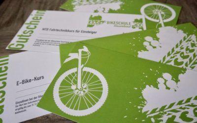 Bikeschule verschenken – Gutscheine zu Weihnachten